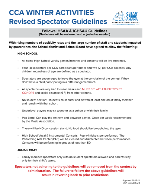 winter spectator guidelines document