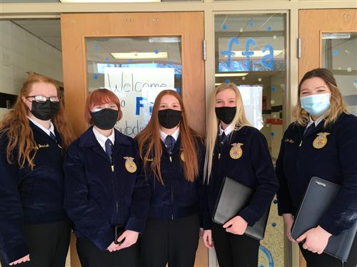 FFA Students at Sub-District contest