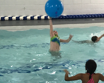 Kids Playing in the Amana Community Pool