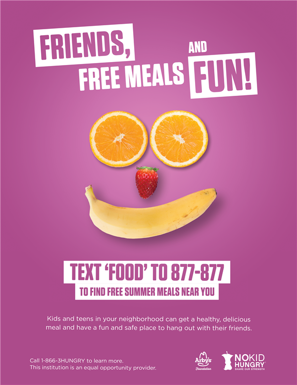 Free Summer Meal Program flyer