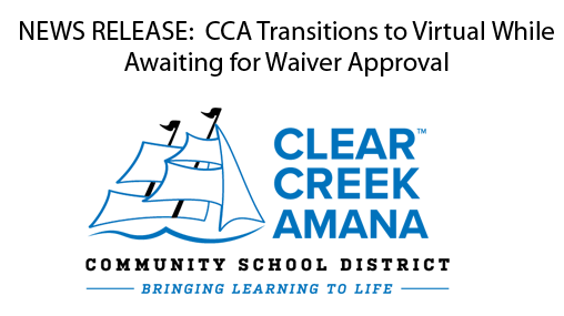 News Release - CCA Transitions to Virtual Online Learning While Awaiting State Approval