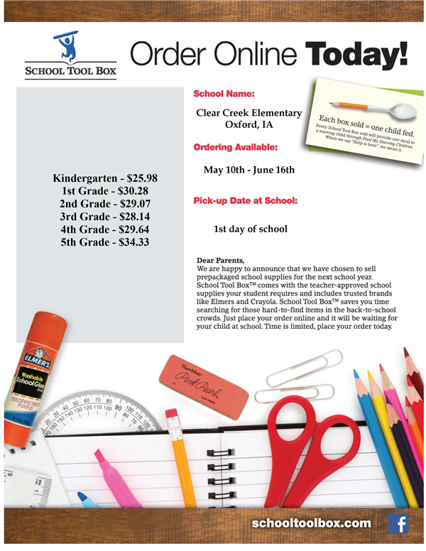 School Supply kit flyer